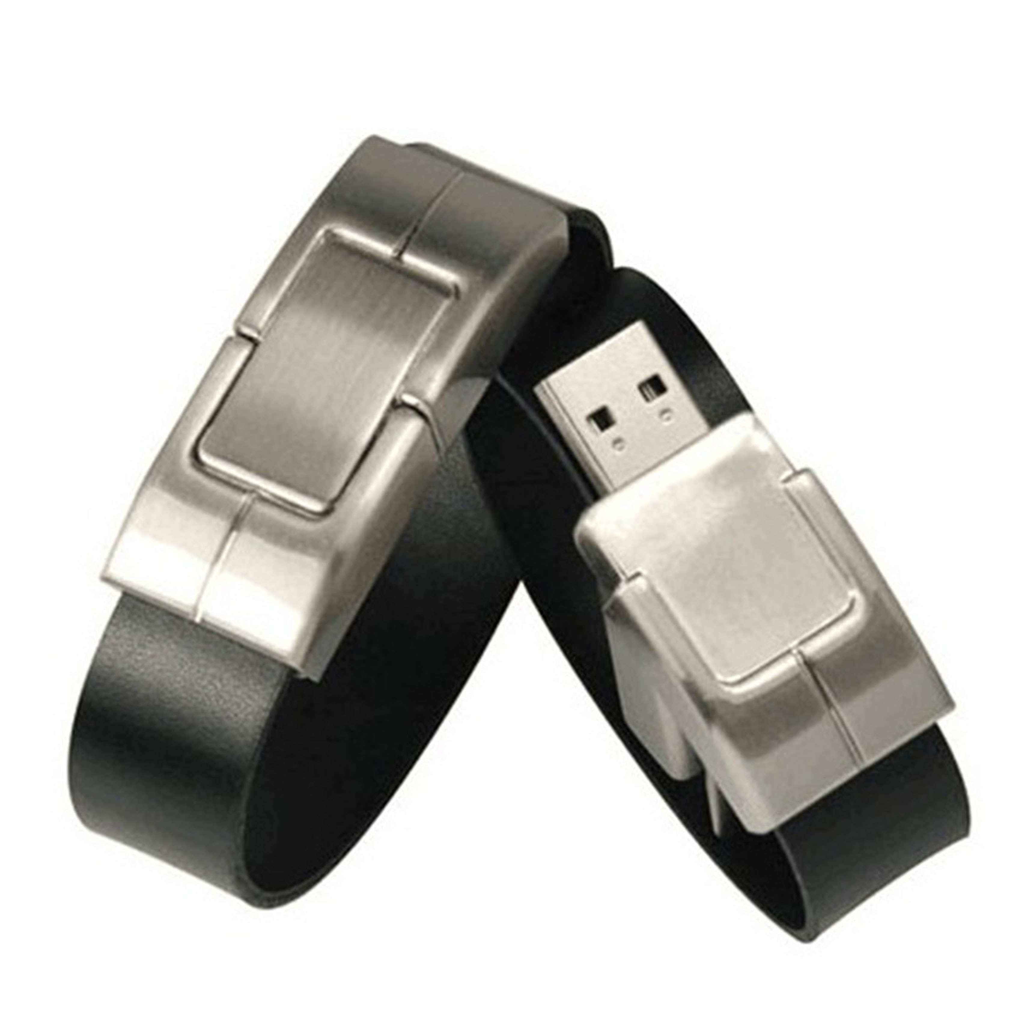 Wristband Leather Black USB flash drive