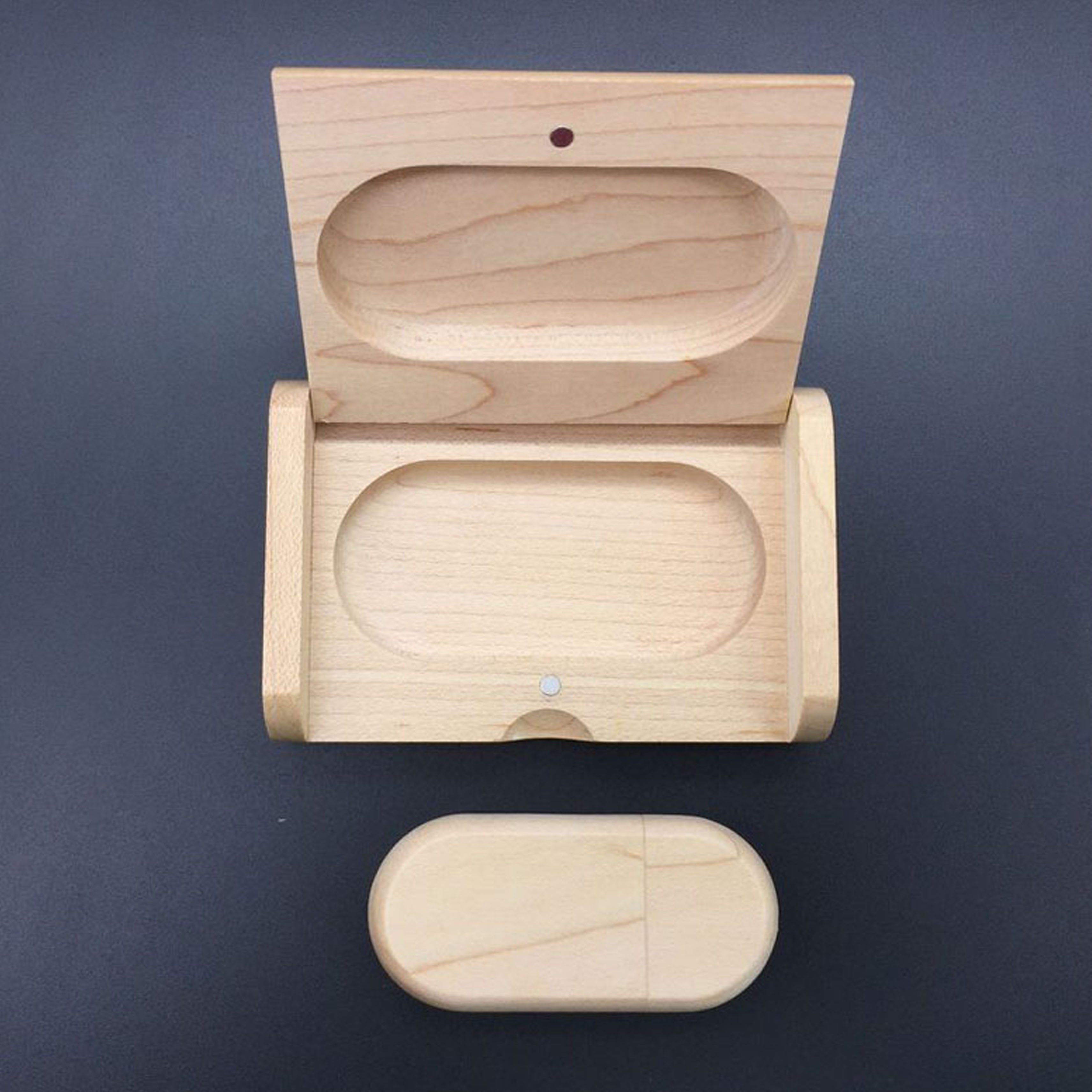 Wooden Box Stick Shape usb flash drive