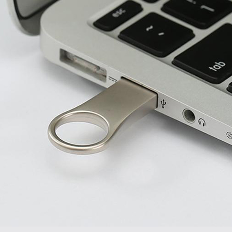 Mini Round circle Silver USB flash drive
